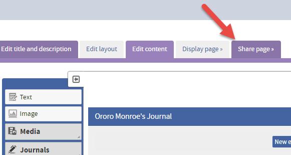QMplus Hub share journal