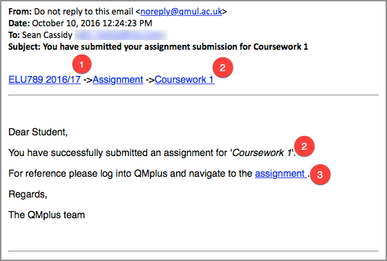 qmul coursework submission form The university aims to return coursework and feedback to students no later than 20 working days after the published deadline for submission exceptions to this include dissertations, placement reports, projects and portfolios, as well as any work submitted after the original deadline.