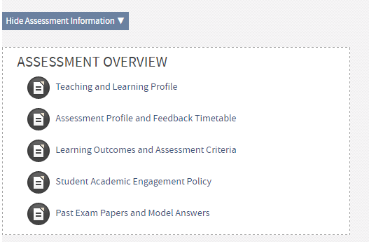 Is the information in your assessment overview still correct?