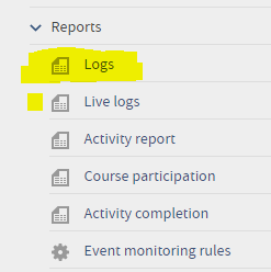 Check your logs in the settings block