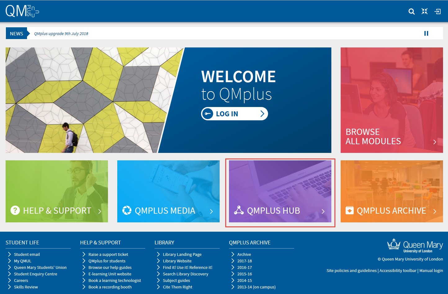 QMplus home page