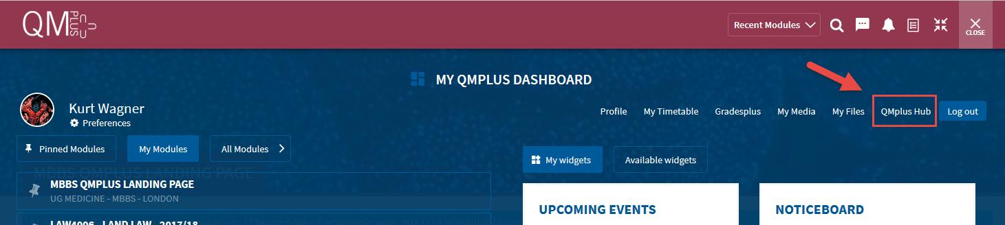 QMplus Flydown Dashboard