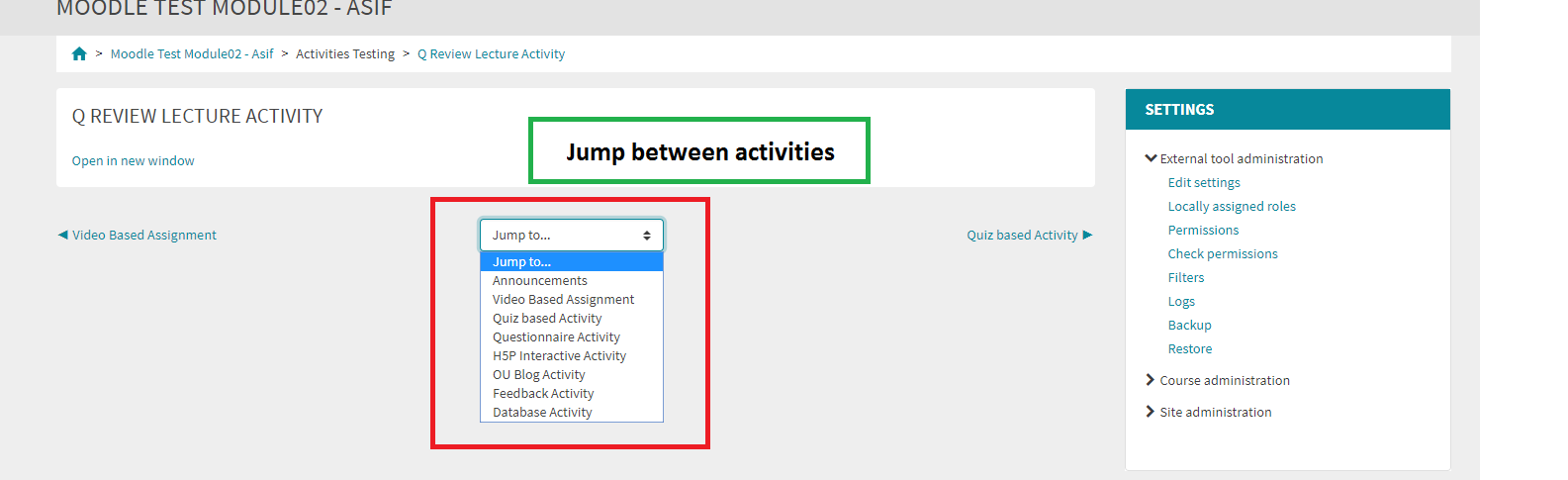Image for Jump between Activities
