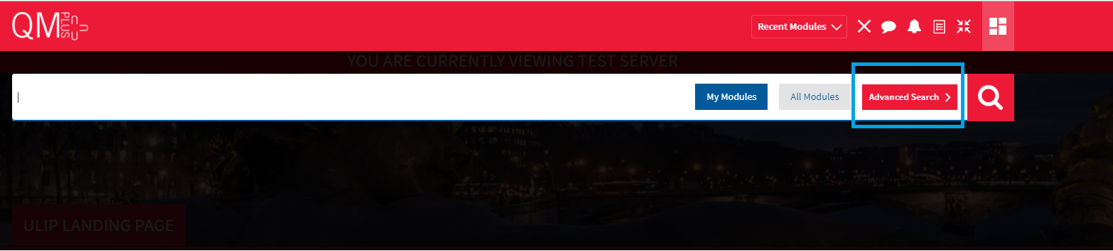 Advance Search Screenshot