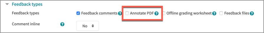 Turn off the annotate PDF feature