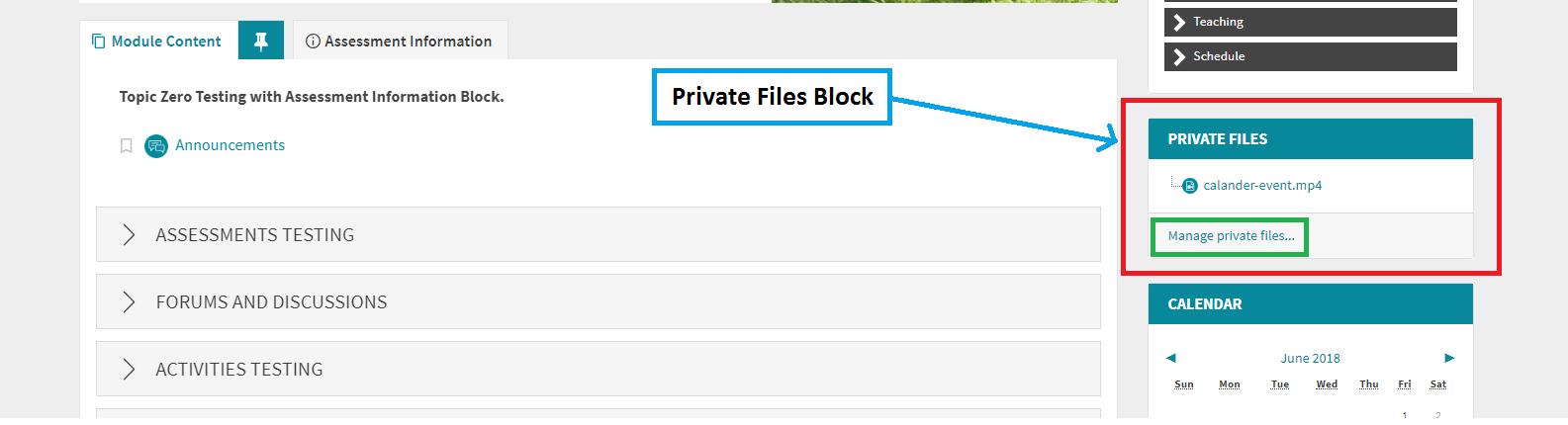 Private File Block