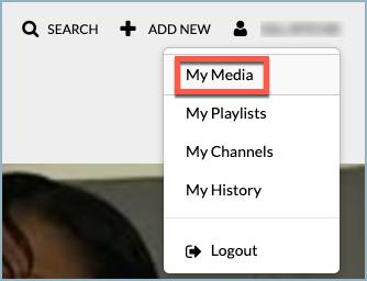 Go to your My Media area on QMplus Media